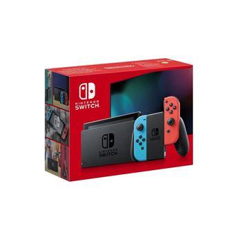 Photo de console-nintendo-switch-joy-con-rouge-et-bleu